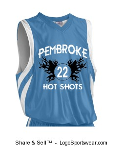 Adult Downtown Reversible Basketball Jersey Uniform Set Design Zoom